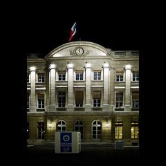 Veille digitale (Qr Code de nuit, Hotel de ville à Bordeaux)