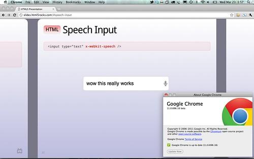 HTML5 Speech Input on Google Chrome 11 Beta