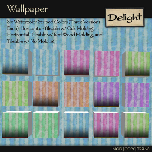 ~Delight~ Wallpaper Watercolor Striped