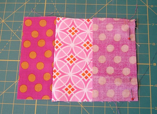 Altered Four Square Quilt Block Tutorial: Pinning the Middle Pair