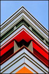 The Corner (Calmpjes) Tags: school lines corner coloured rhythm lijnen hoek ypenburg ritme lyceumypenburg