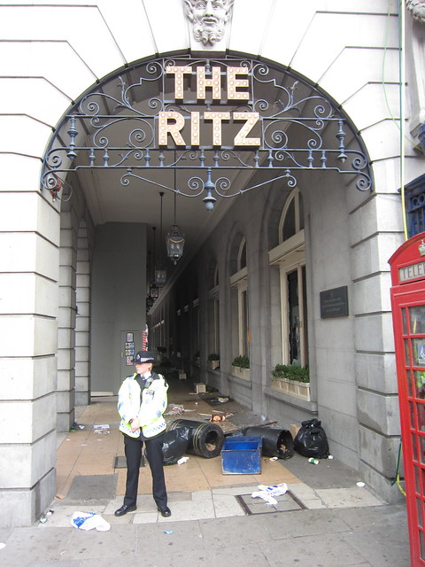 Damage at the Ritz hotel