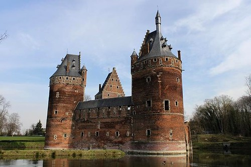 beautiful castle surrounded by moat