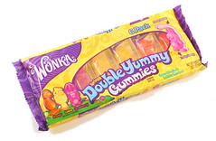 Wonka Double Yummy Gummies Package