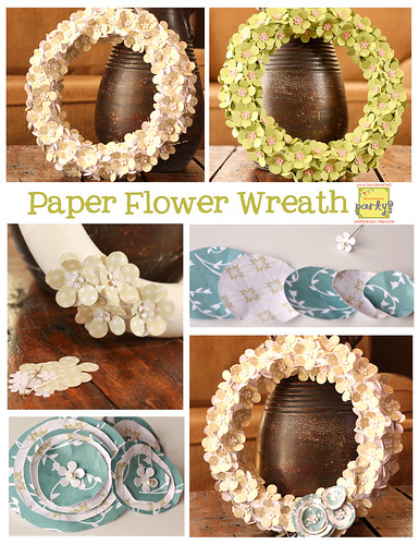 Paper Flower Wreath Collage copy