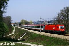 1116 253-4, 12.04.2009, Unter-Oberndorf (mienkfotikjofotik) Tags: train eisenbahn rail railway taurus bahn bb kolej koleje 1116 sterreichische vast es64u2 bundesbahnen vasutak bb