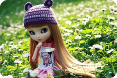 Alize loves spring (Amarie Photography ) Tags: pink flower spring doll purple body handmade alice sala wig blonde groove pullip wonderland limited edition sola lala alize mueca obitsu junplanning rewigged crobidoll