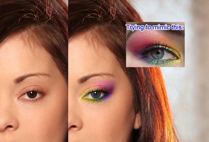 Eyeshadow - first attempt