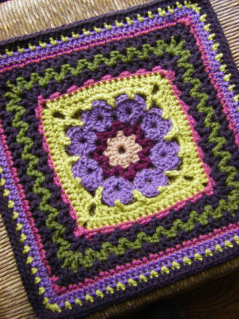 more v's please 12 inch afghan square block free crochet pattern
