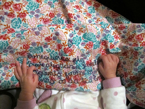Baby blanket in use II