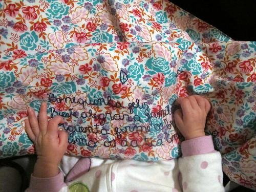 Baby blanket in use II
