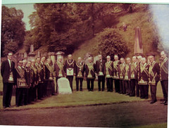 Ruthven memorial stone commemoration ceremony