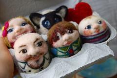 Egg family portrait (asherjasper) Tags: portrait wool egg needlefelting humanfiguredoll