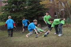 bday eight: shoe hockey, baby (woodleywonderworks) Tags: birthday old blue party green boys shoe year eight hocket casulty img9576