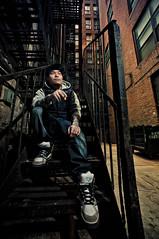 NYC - Sam Li (isayx3) Tags: nyc portrait newyork fire alley nikon escape angle bare flash wide environmental sigma studios ultra f28 d3 sb800 14mm pocketwizard strobist plainjoe isayx3 plainjoephotoblogcom