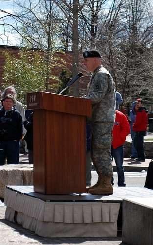 Army Lt. Col. Richard M. Bertone, Commander, 101st Engineer Battalion