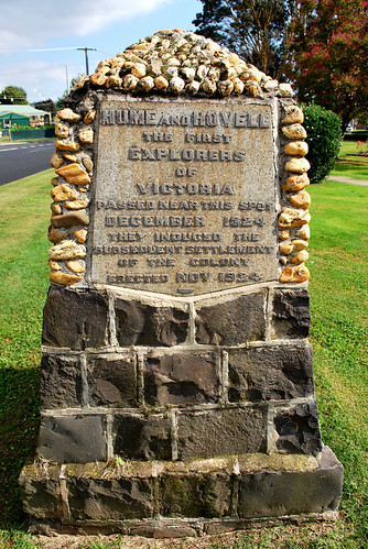 Hume & Hovell monument, Yea, VIC, Australia | Flickr - Photo Sharing!