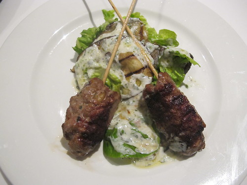 Finished lamb kebabs