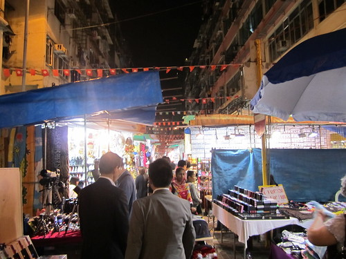 night market in Hong Kong