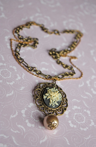 Brass Cameo necklace