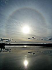 Halo (Matt Mimosa) Tags: reflection clouds halo refraction pugetsound saltwater cirrus eldinlet