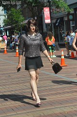 Walking Church Street (Vera Wylde) Tags: vt pride glasses sparkly brunette vera wylde cross dress dresser dressing drag queen queer cd tv trans transgirl tgirl tgurl transvestite crossdress crossdresser crossdressing