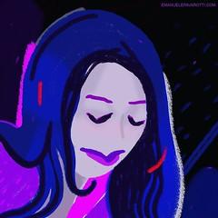 Night wish  #portrait #character #night #digitalpainting #contemporaryart #lady #illustration #artlife #girl #painting #drawing (Emanuele Pavarotti) Tags: instagram new york usa iphone4s