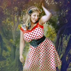 'S-12' (Natasha Root Photography) Tags: natasharootphotography inspire imagine create painterly pinup polkadots dress red blonde squareformat fineart light likeapainting portrait