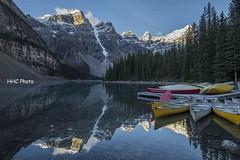 Tranquility (HelenC2008) Tags: moraine morainelake banff banffnationalpark canadianrocky dawn tranquility nikon d810 ngc thisphotorocks flickrdiamond