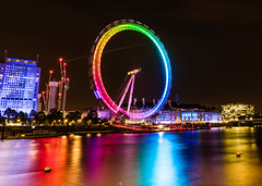 London Eye Rainbow Reflections (Davestarling) Tags: reflections canon5dmarkiv canon1740mmf4l thames londoneye london unitedkingdom longexposure