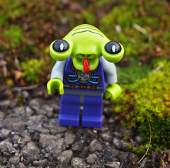 hallo spaceboy (Johnson Cameraface) Tags: winter green lego space alien january olympus spaceman minifig zuiko 2011 zd series3 1442mm e620