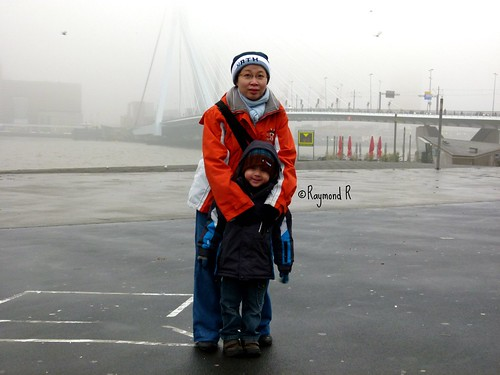 Behind is Erasmus bridge