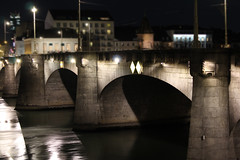 Mittlere Rheinbrucke Basel Switzerland 1 (david.ebanks) Tags: bridge night switzerland basel rhein mittlere rheinbrucke