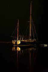 Darkness (trickydicky1964) Tags: winter sky cloud black reflection night boats coast sailing ship ships north norfolk nightshots juno blakeney longexposer 2011 morston canon450d canonefs1855mmf3556is trickydicky1964