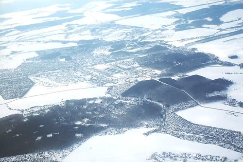 俯瞰冬天的俄羅斯