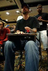 OneHandedTerror playing in the 3rd Strike team tournament at Devastation 2009
