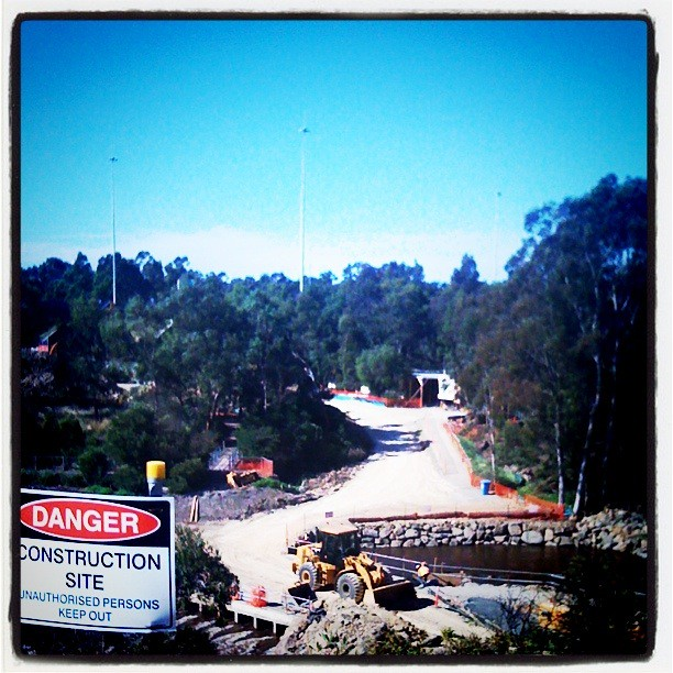 They seem to be rebuilding Dights Falls after the floods