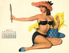 Al Moore 1950 Esquire Calendar