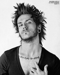 (jenniferavello) Tags: boy portrait male canon studio beard skin tattoos portraiture eyebrow monroe guages nosering facialhair piercings softbox diffused plugs strobe scruff vneck 2011 canon5dmarkii jenniferavelllo