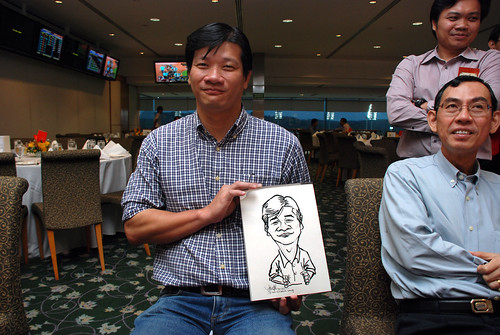 caricature live sketching for Thorn Business Associates Appreciate Night 2011 - 7
