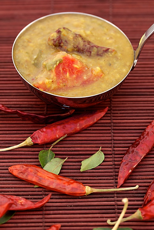 Multi Lentil Multi Vegetable Stew/Sambar From The Kitchens Of Akshaya Patra
