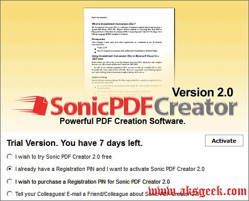 sonic pdf creator 1