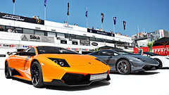 Lined Up (Thomas van Rooij) Tags: lighting light summer cars car italian nikon italia thomas spyder sl event exotic nikkor lamborghini zandvoort supercar sv lambourghini gallardo 2010 supercars murcielago lamborgini 18105 superleggera d90 cpz hessing rooij superveloce lp560 lp5604 lp6704 lp670 lp5704 thomasvanrooij lp570