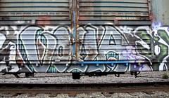 Voila KI (Rainier Beer 12oz) Tags: railroad urban art rain train graffiti fan paint track traintracks spray spraypaint graff traintrack railfan freight freighttrain trainart foamer graffi benched benching