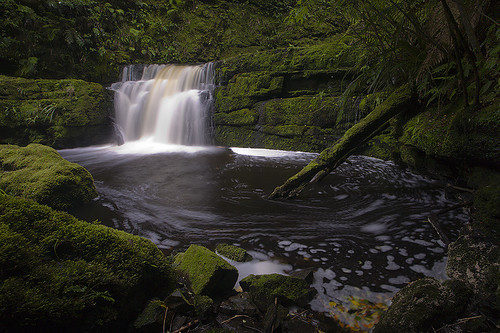 The lower McLean Falls in the Catlins