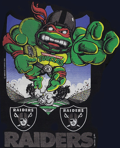 Oakland Raiders :: 'RAIDER RAPHAEL' { T-shirt Graphic } (( 1992 ))