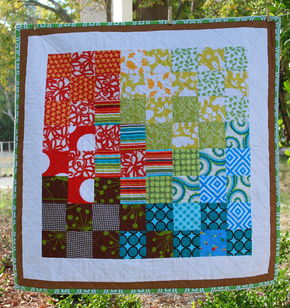 Baby Quilt in Patchwork Crayons