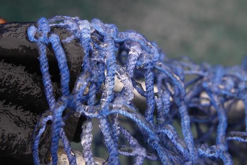 Frozen fishing net