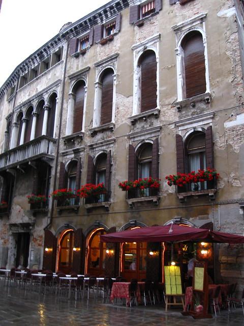 ヴェネツィアのレストランのフリー写真素材