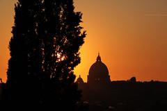 Cupola su Roma (Alessandro Corradini) Tags: sunset blackandwhite rome roma tramonto lookout cupola eur posterized stpeter villaborghese pincio romebynight canoniani tramontosuroma